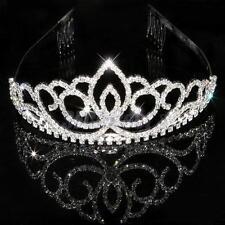 Bridal Bridesmaid Wedding Party Crystal Diamante Crown Headband Tiara Hair Comb