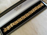 9ct Gold Fancy Link Bracelet Made In Italy Brand In Box Pure Quality