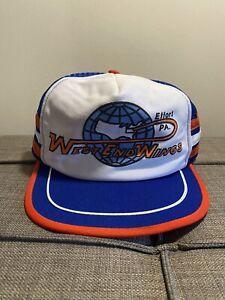 Vintage-3-Stripe-Snapback-Mesh-Trucker-Hat-MADE-IN-USA-Effort-PA-West-End-Wings