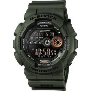 Casio-Men-039-s-G-Shock-GD-100MS-3ER-Resin-Band-Sports-Watch-RRP-100-BARGAIN