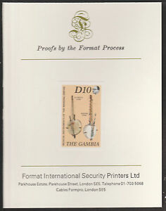 541 1987 Musical Instruments Imperf On Format International Proof Card Gambia