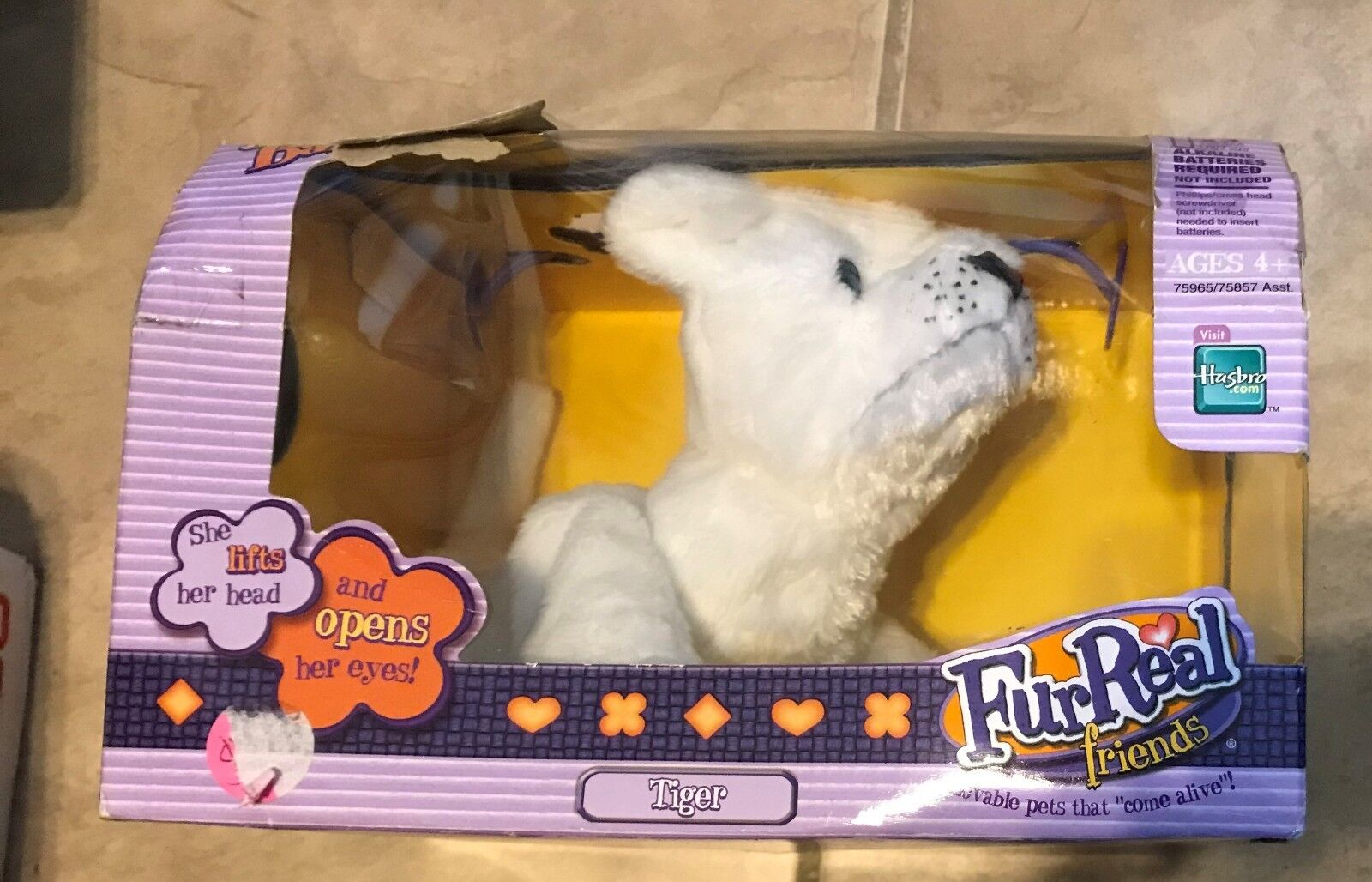 Fur Real Friends New Born Baby Cubs White Tiger NEW factory sealed
