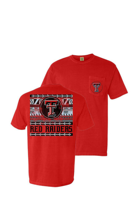 50c4217b8 Comfort Colors Texas Tech Red Raiders Short Sleeve Tee T- Shirt Small