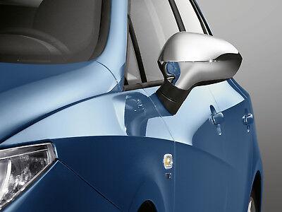 SEAT Original Außenspiegel Spiegelblenden Mattchromoptik Ibiza 6J Leon 1P Exeo