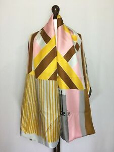 Pierre-Louis Mascia Double Sided Scarf Cashmere Silk Geometric Print Authentic
