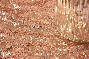 Rose Gold Sequin Fabric Sparkly Shiny Bling