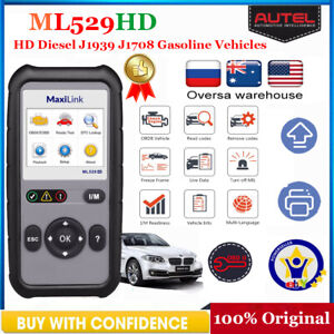 Details about Heavy Duty Truck Scan Tool +OBD2 Vehicle Scanner Fault Code  Reader AUTEL ML529HD