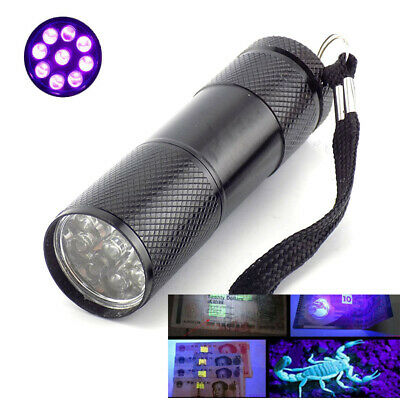 Linternas Flashlight Purple 395 nm LED Flash Torch Lights Lamp Ultraviolet Lamps