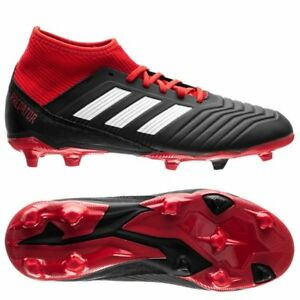 a47b37e74266 Details about adidas Predator 18.3 FG 2018 Soccer Cleats Shoes Kids - Youth  Black Red White