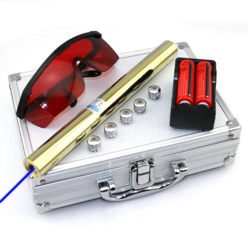 1MW 450nm Djustable focus Blue Laser Pointer Pen Visible Beam BH5