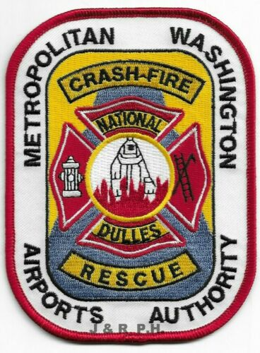 """3.5/"""" x 5/"""" fire patch Airport National Dulles Airports Authority  C.F.R."""