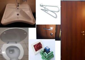 Kit bagno disabili lavabo water maniglione allarme porte