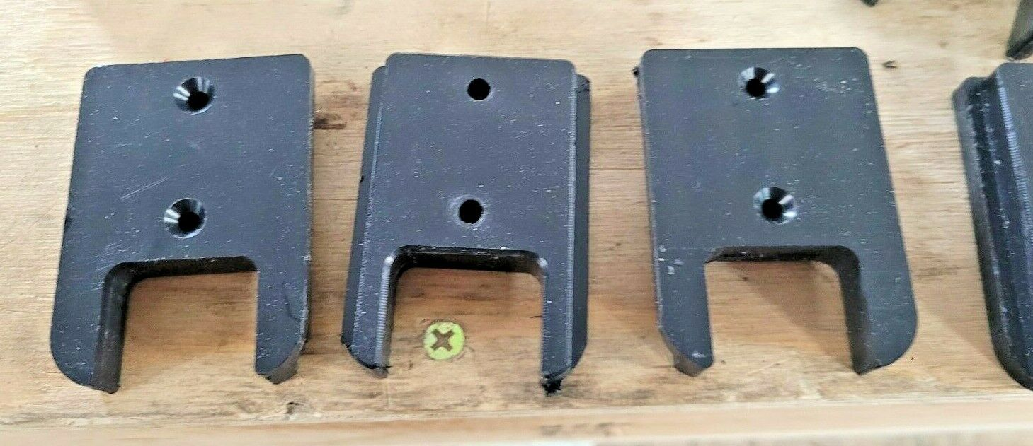 (5 Count) CNC MACHINED Milwaukee M18 Tool Holders/Hangers/Mounts. Not 3D PRINTED