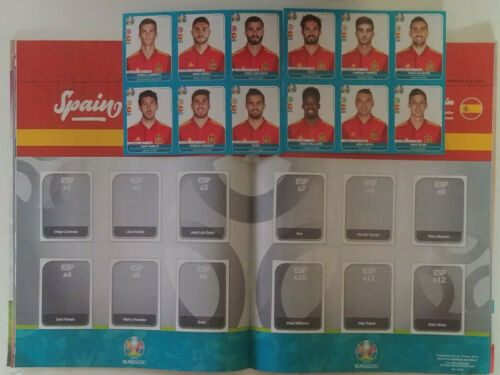 SPAIN PANINI EURO 2020: EXTRA UPDATE 12 STICKERS SET ALBUM PAGE JUGON 160
