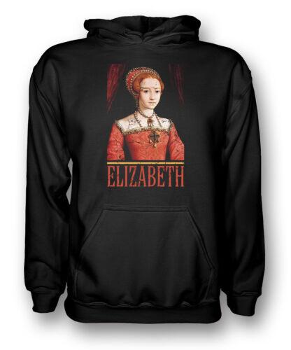 Elizabeth 1-Regina di Inghilterra-Uomo Felpa con Cappuccio