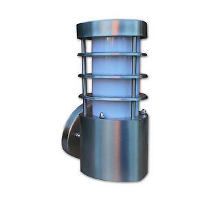 GRUNDIG-Edelstahl-Wandleuchte-230V-max-60w-Innen-Aussen-Leuchte-IP44-E27-Elektro