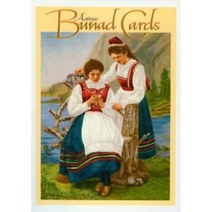 Details about Norway Antique Bunad Cards Set, NEW