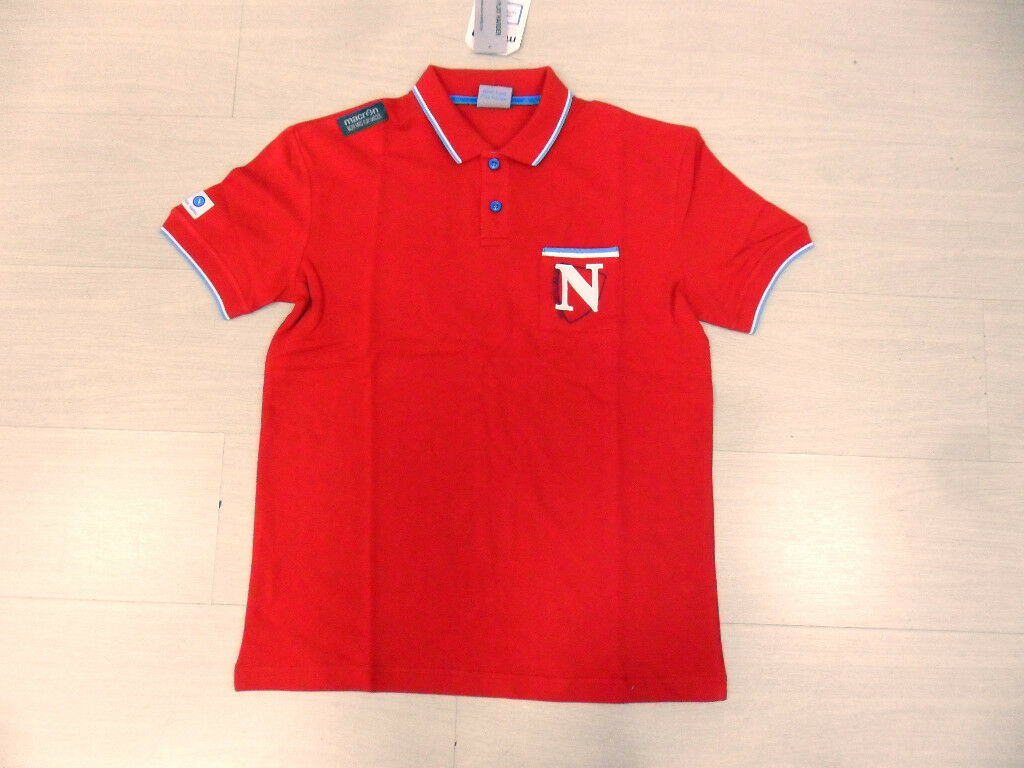 1579 NAPOLI FOOTBALL POLE COTTON SIZE SIZE 3XL FREE TIME OFFIZIELL POLE RED