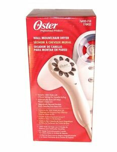 New Wall Mount Oster Hair Dryer 1500 Watts Home House