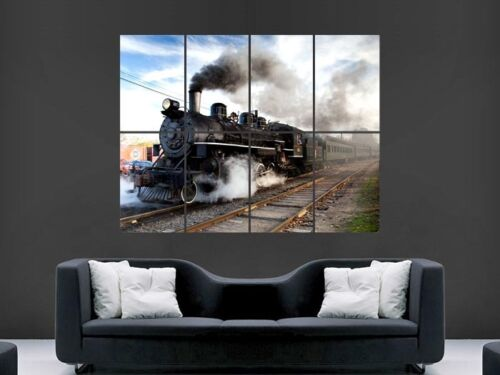 STEAM TRAIN LARGE  GIANT POSTER PRINT