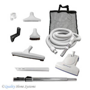 Central Vacuum Turbocat Accessory Attachment Kit With 30 Or 35 Ft On Off Hose Ebay