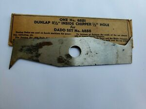 "Dunlap 5 1/2"" Inside Chipper 1/2"" Hole  Blade Bench Machine Parts"