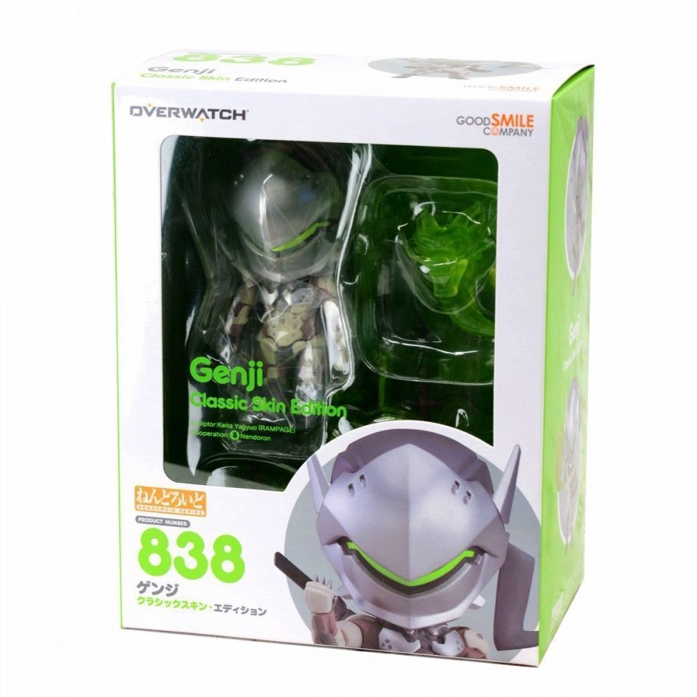 GOOD SMILE CO NENDgoldID OVERWATCH GENJI CLASSIC SKIN ACTION FIGURE NEW AUTHENTIC