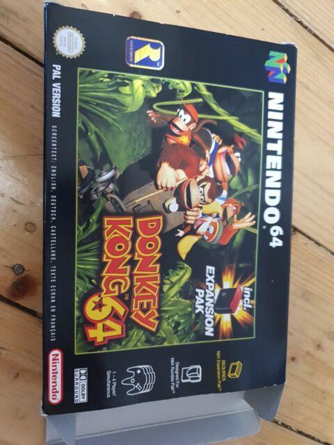 Donkey Kong 64 Nintendo N64 en caja como nuevo incluso expansión pak