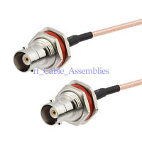 BNC female bulkhead O-ring to Jack RF coax cable RG316 pigtail 15cm for Wireless
