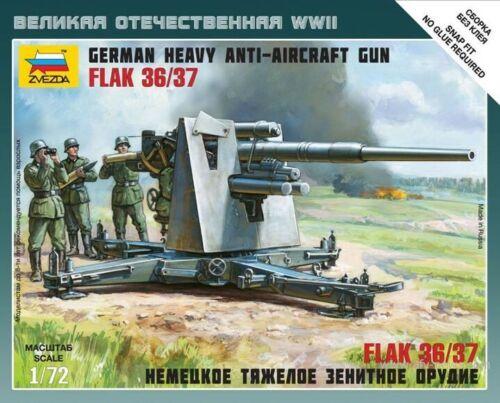 German 88 Mm Flak 36 Kit 1:72 Zvezda Z6158