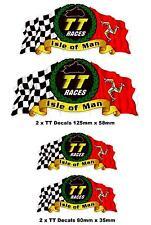 4 x Isle of Man TT Race stickers Decals