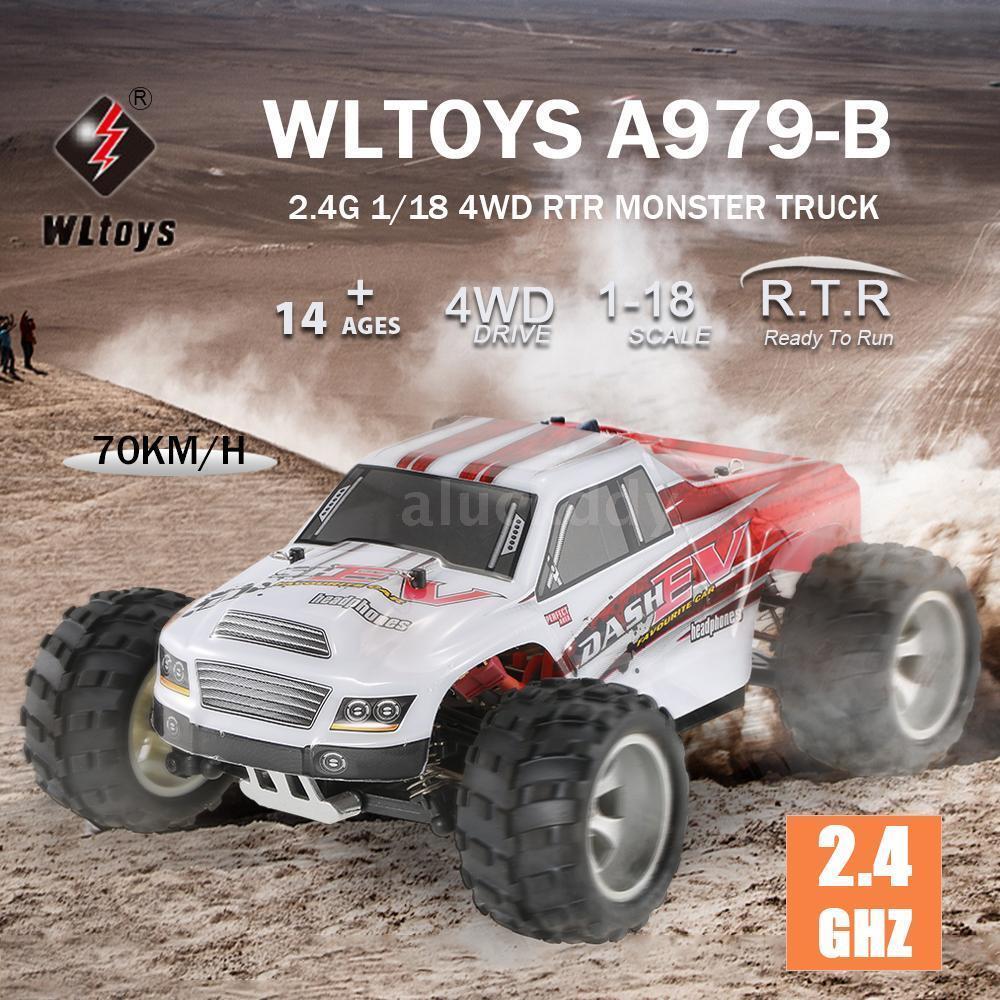 WLtoys A979-B 2.4G 1 18 1 18 4WD 70KM H Electric Crawler RC Car Toys Gift H7R8