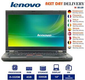 Lenovo-ThinkPad-T430-14-0-034-Laptop-Intel-i5-2-60GHz-4GB-RAM-500GB-HDD-Windows-10