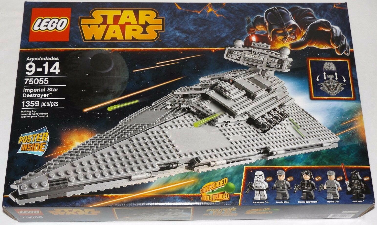 Lego Star Wars Imperial Star Destroyer 75055 Darth Vader bajas Holograma