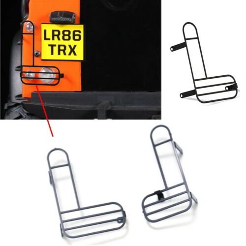 2Tlg Rear Rücklicht  Lampe Guard Cover Für 1//10 Traxxas TRX4 Land Rover Defender