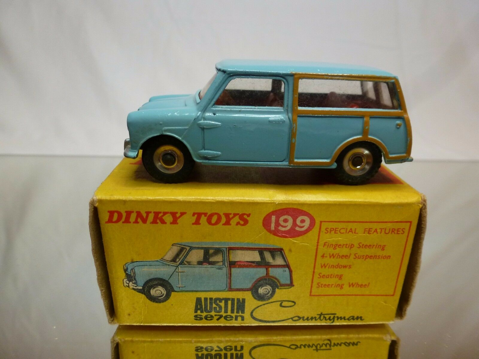 DINKY TOYS 199 AUSTIN SEVEN COUNTRYMAN  - azul1 43 - GOOD CONDITION IN BOX