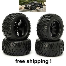 4PCS Wheel Rim & Tires HSP 1:10 Monster Truck RC Car 12mm Hub 88005 off road