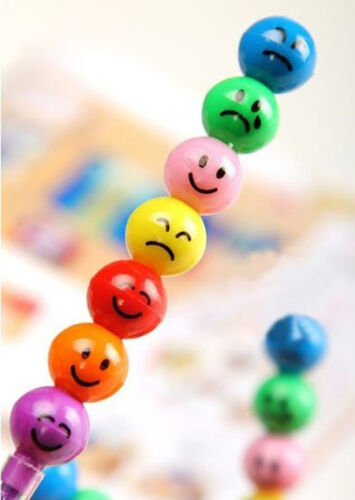 7 in 1 Cute Mood Face Crayon Maker Stationery Student Kids Gift Drawing Tool