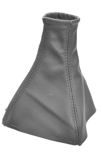 Fits vauxhall opel vectra c signum 2002-2009 gear gaiter cuir gris