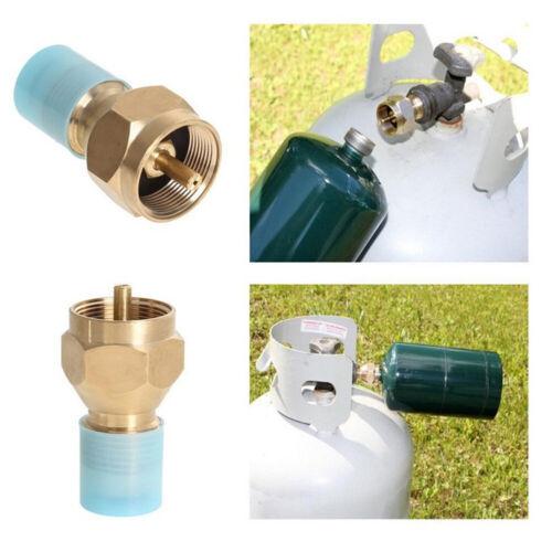 UK/_ Propane Refill Adapter Lp Gas Small Cylinder Tank Brass Coleman Heater Shell