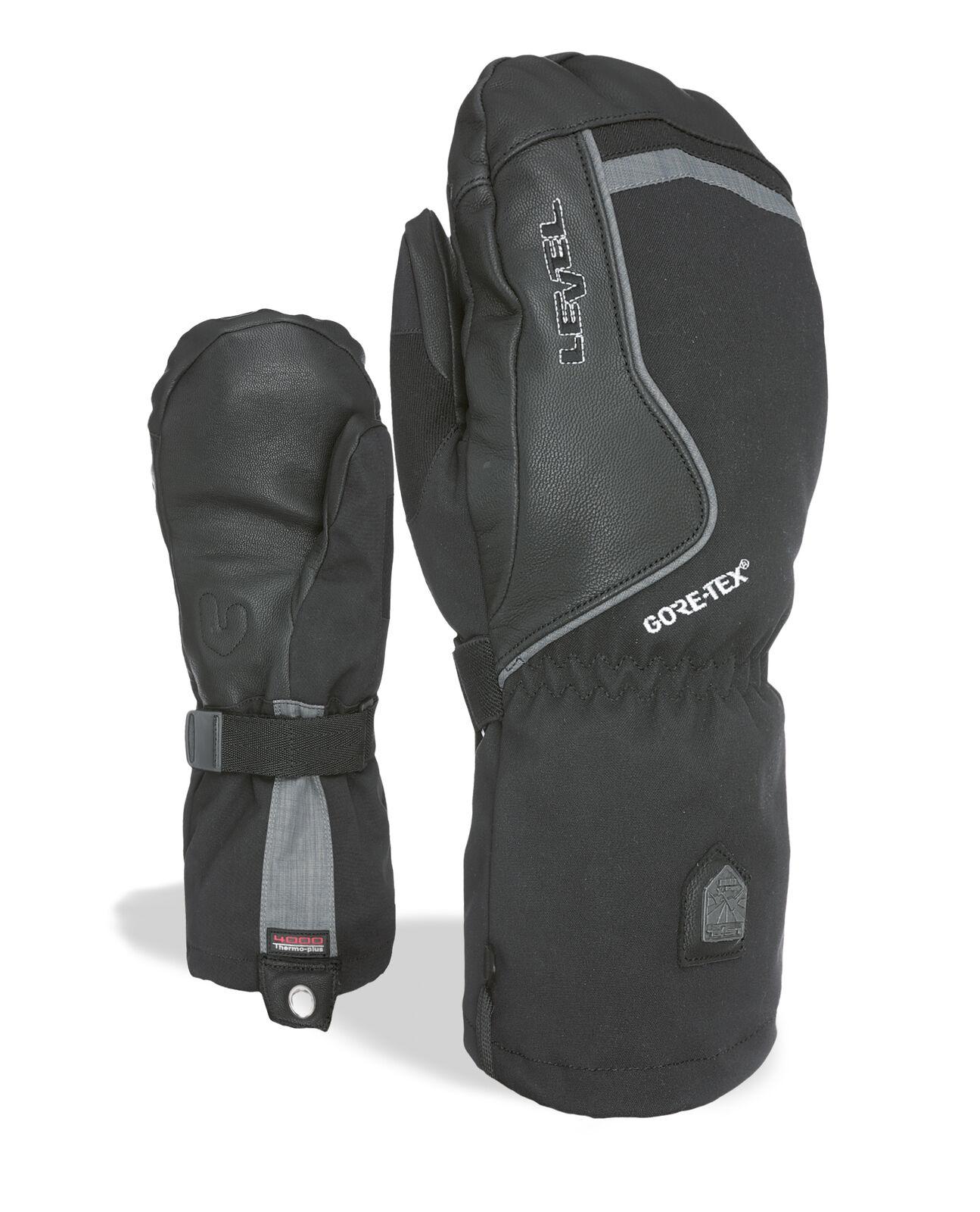 Level Handschuh Heli Mitt Gore-Tex black winddicht wasserdicht