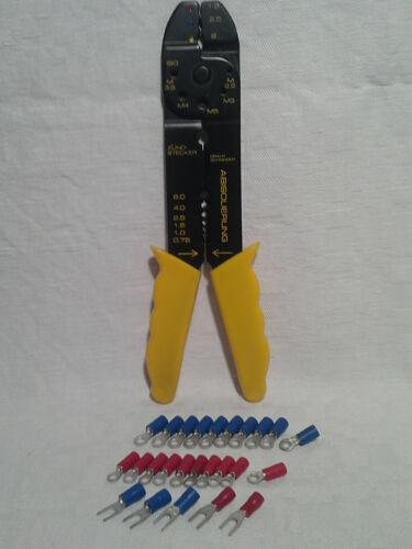 Crimpzange Kabelschuh Sortiment 25 tlg isolierte Verbinder Kabelschuhzange
