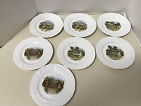 "7 QUEENS FINE BONE CHINA HORCHOW COLLECTION MADE IN ENGLAND BUNNY 8"" PLATES"