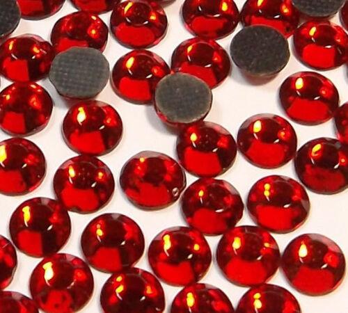 700 HotFix pedrería 3mm rojo vidrio pedrería perchas piedras ss10 rhinestones 11