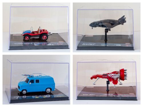 Marvel machines models in Perspex cases rare highly collectible great Xmas gift