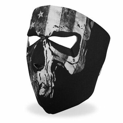 Gray Flag Skull Motorcycle Biker Ski Snowmobile Neoprene Face Mask #1034