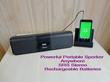 iHome Portable Rechargeable Speaker With iPhone/iPod Dock,3.5mm,SRS,Powerful.
