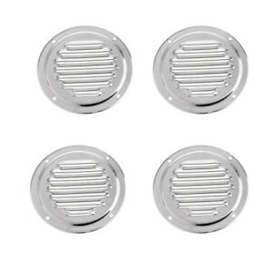 4PCS 5 Inch Marine Air Vent Stainless Steel Butterfly Boat Round Louvered Vent