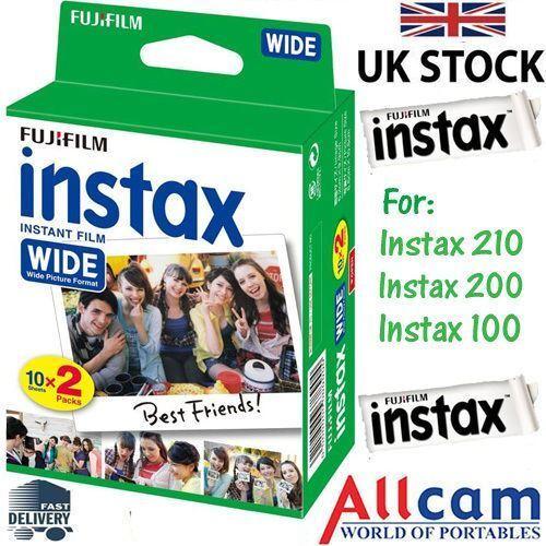 Fuji Instax Wide Film Pour Fujifilm 300 210 200 100 Instantanée Caméras