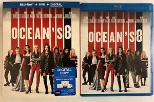 OCEANS-8-BLU-RAY-DVD-2-DISC-SET-SLIPCOVER-SLEEVE-FREE-WORLD-WDIE-SHIPPING-BUY